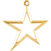 Metal Fashion Star Pendant Dangle