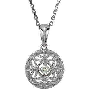 Diamond Filigree Pendant or Necklace