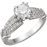 Diamond Accented Semi-Mount Engagement Ring
