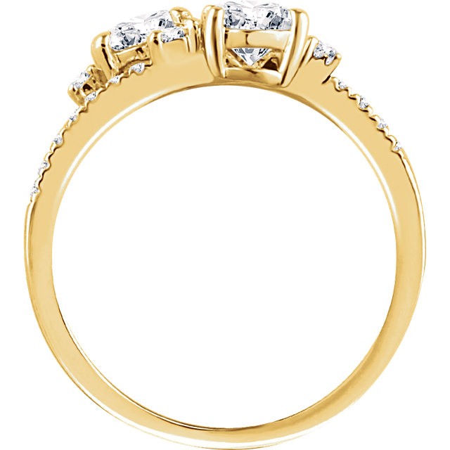 14K Yellow 1/10 CTW Diamond Band for 5mm Engagement Ring