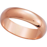Half Round Wedding Band - Size 7, 2mm - 12mm
