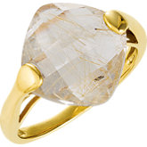 Genuine Rutilated Quartz Ring