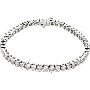 "14K White 3 CTW Diamond Line 7.25"" Bracelet"