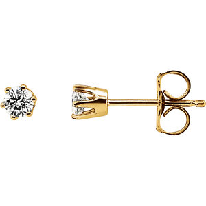 SI₂-SI₃ G-H Diamond  Friction Post Stud Earrings