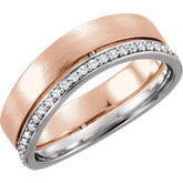 Two-Tone 6.5mm Diamond Band or Mounting