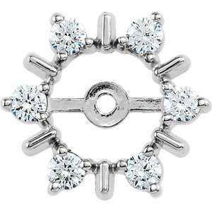 14K White 1/3 CTW Diamond Earring Jackets