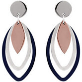 Amalfi™ Tri-Color Immersion Plated Stainless Steel Multiple Oval Earrings