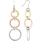 Amalfi™ Stainless Steel Circle Drop Earrings with Immersion Plate