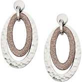 Amalfi™ Stainless Steel Oval Hammered Earrings with Immersion Plating