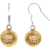 Amalfi™ Stainless Steel Glitter Ball Earrings with Immersion Plate