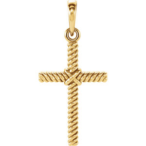Cross Rope Design Pendant
