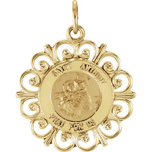 Round St. Anthony Medal