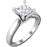 Diamond Sculptural Design Engagement Ring, Band or Base