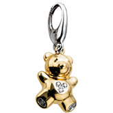 .035 ct tw Diamond Teddy Bear Charm