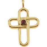 Genuine Ruby Cross