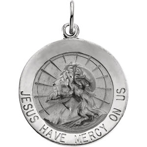 Round Jesus Have Mercy on Us Medal