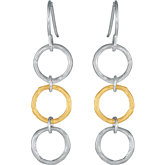 Fashion Multi-Circle Dangle Earrings