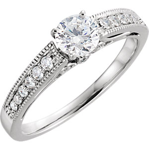 14kt White 1/  ATW Diamond Band