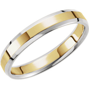 Two-Tone 4mm Comfort-Fit Beveled Edge Band