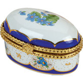Oval Porcelain Hinged Box