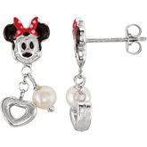 Disney® Minnie Mouse & Pearl Earrings