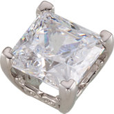 Princess/Square 4-Prong Vintage Scroll Setting®
