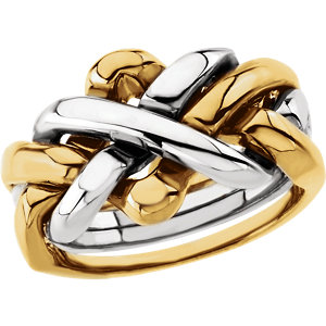 14kt Two-Tone Ladies 4-Piece Puzzle Ring