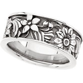 8.5mm Floral Design Band