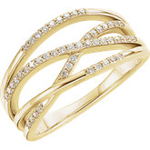 Diamond Criss-Cross Ring or Mounting