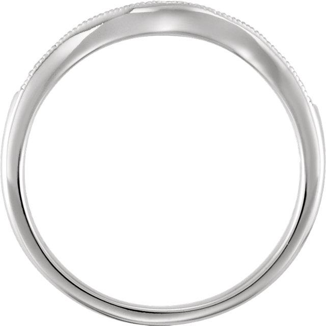 14K White 1/10 CTW Diamond Band