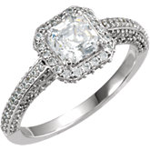 Halod Princess Cut Engagement Ring Mounting