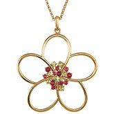 Floral Design Pendant or Necklace