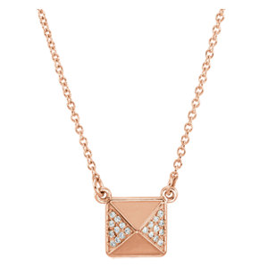 Accented Pyramid Necklace or Center Mounting
