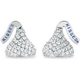 HERSHEY'S KISSES® Flat Back Cubic Zirconia Stud Earrings