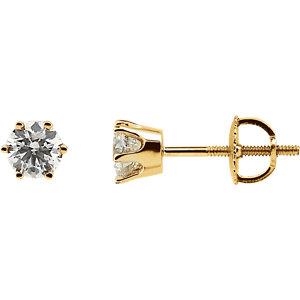I₁ G-H Diamond Threaded Post Earrings