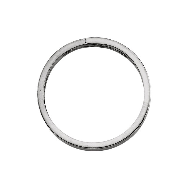 Sterling Silver 31.75mm Round Split Key Ring