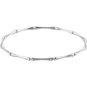 14K White 60mm 1/6 CTW Diamond Bracelet
