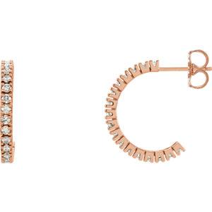 Diamond Hoop Earrings or Mounting