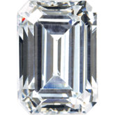 Emerald/Octagon SWAROVSKI GEMSTONES™ Lab Created White Cubic Zirconia