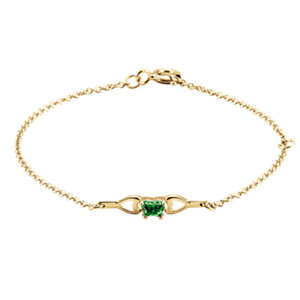 10K Yellow May Birthstone Bracelet