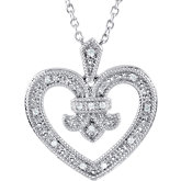 .06 ct tw Diamond Heart Design 18