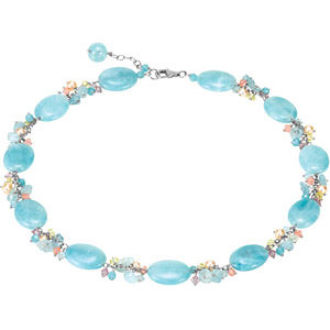 Freshwater Cultured Pearl & Gemstone Bracelet or Necklace