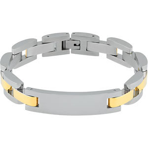 Diamond Princess Stainless Steel Mens Panther Signet ID Bracelet at Sears.com