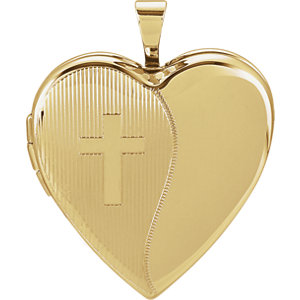 Heart Cross Locket