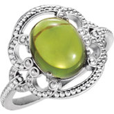 Peridot Granulated Design Ring or Mounting