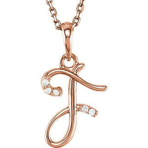 Script Initial Pendant or Necklace