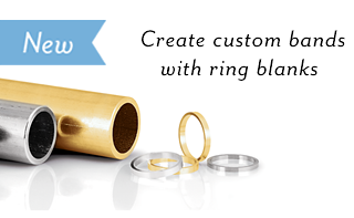 Create custom bands with ring blanks