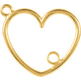 Heart Dangle Component with Jump Ring
