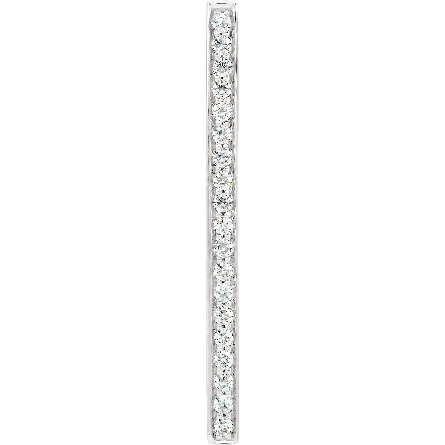 14kt White 1/5 CTW Diamond Vertical Bar Pendant