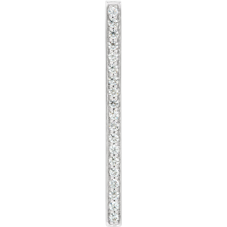 14kt White 1/5 CTW Diamond Vertical Bar Pendant